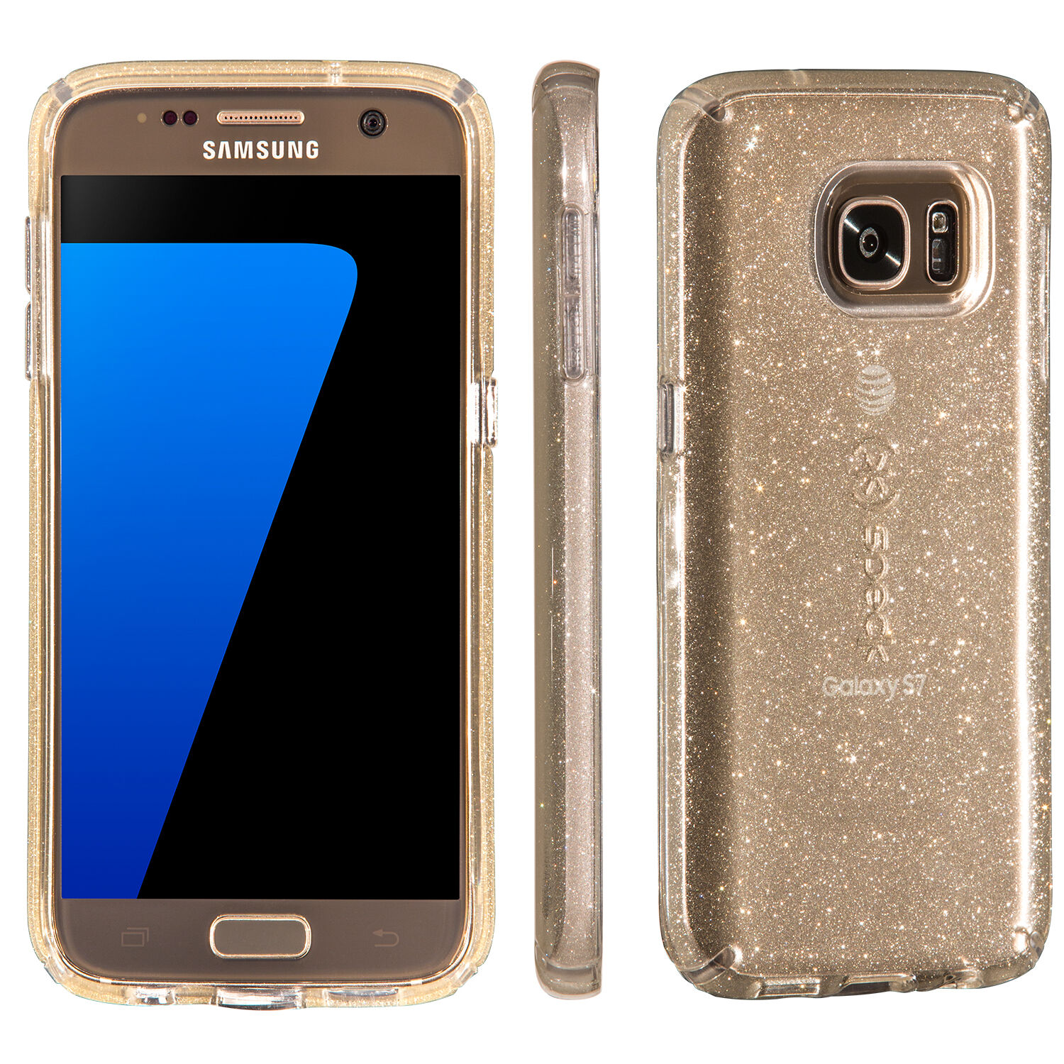 CandyShell Clear with Glitter Samsung Galaxy S7 Cases