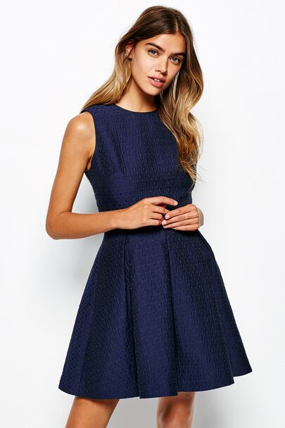 SAXONBURY JACQUARD DRESS