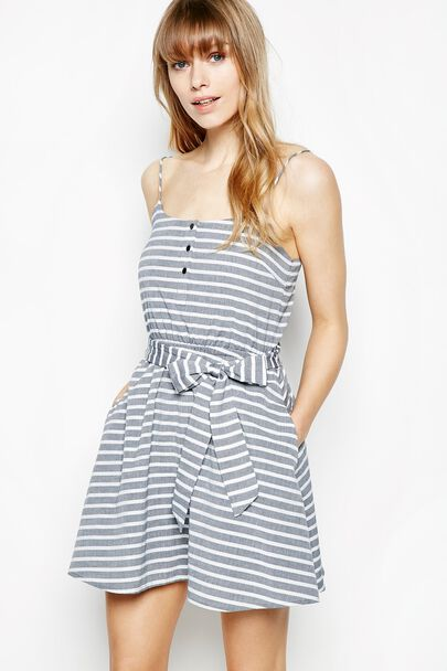 CARBANA STRIPED COTTON DRESS