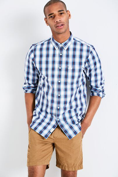 BLANFORD POPLIN PLAID SHIRT