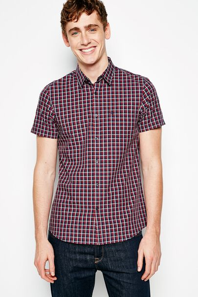 NORTHBRIDGE SS POPLIN CHECK SHIRT