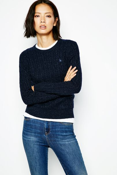 TINSBURY CABLE LUREX SWEATER