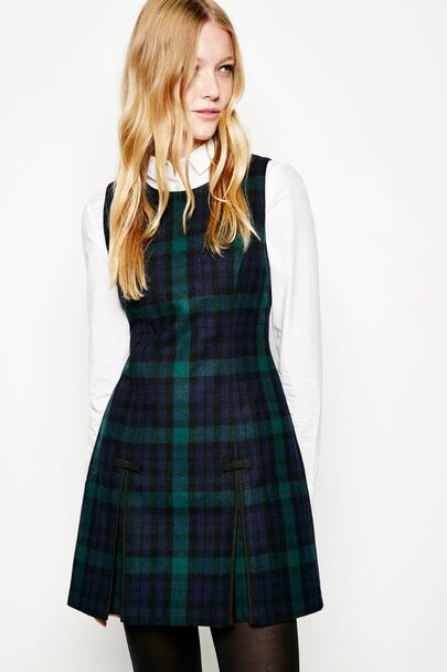 BARNTONGATE TARTAN SHIFT DRESS