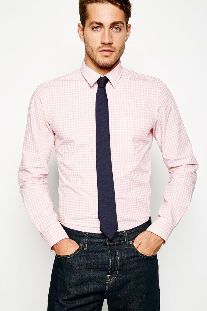 Product photo of Salcombe poplin gingham shirt pink