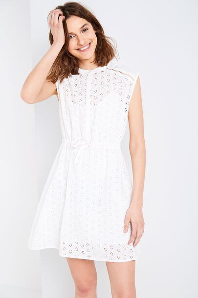 WOOLSCOTT BRODERIE SHIRT DRESSWOOLSCOTT BRODERIE SHIRT DRESS WHITE
