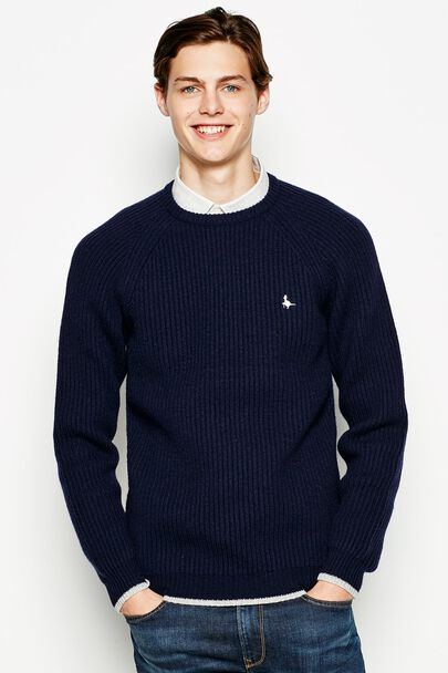 PARKEND OVERSIZED RIB CREW NECK JUMPER