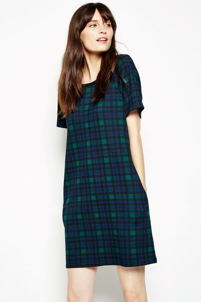 OUTWOOD CHECKED JERSEY DRESS
