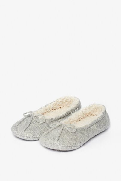 ENID SHERPA PUMP SLIPPERS