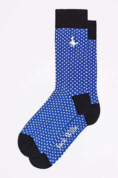 WARK TWISTED SINGLE SOCK BLUE POLKA