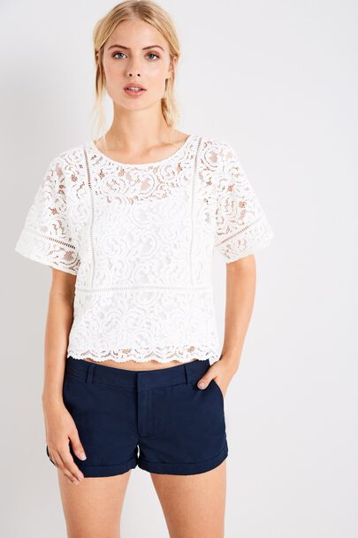 ANGELINA LACE TEE