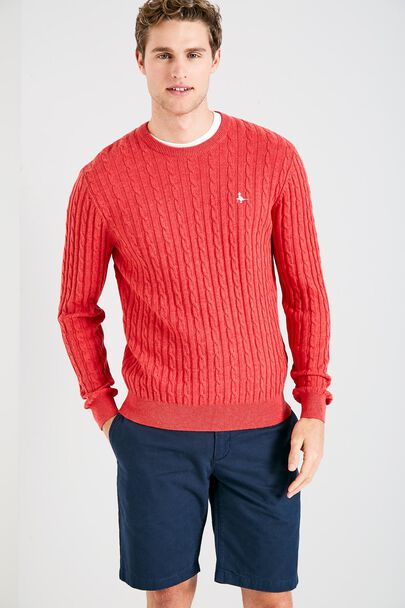 MARLOW CABLE CREW NECK SWEATER