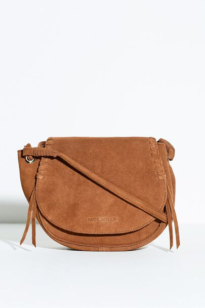 KILNWICK SUEDE LEATHER SADDLE BAG