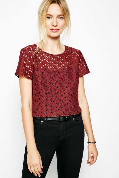 CUBLINGTON LACE CROP TOP