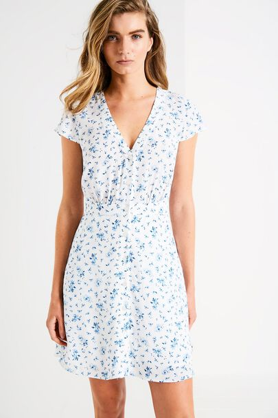 DAISYBANK FLORAL BUTTON DRESS