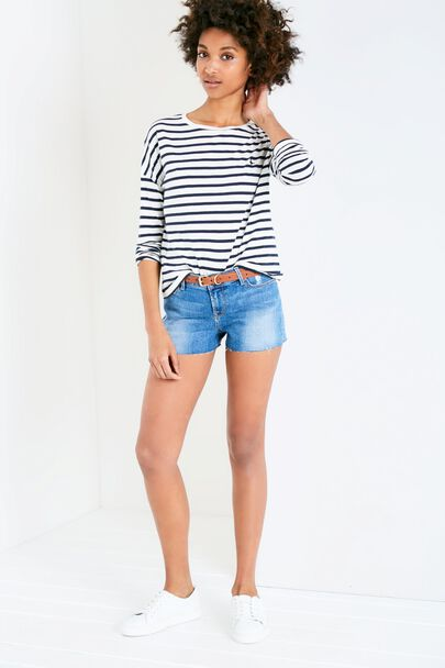 BRAMDEAN CROPPED DENIM SHORT