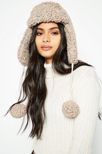 BRAMSBY SHEARLING TRAPPER HAT
