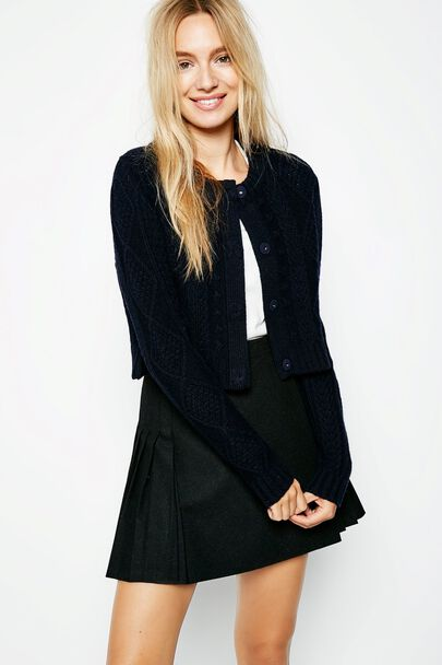 BRIDGEFORD CROPPED CARDIGAN