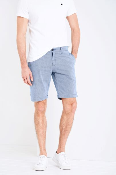 NEWBIGGIN LOW RISE STRIPED CHINO SHORTS