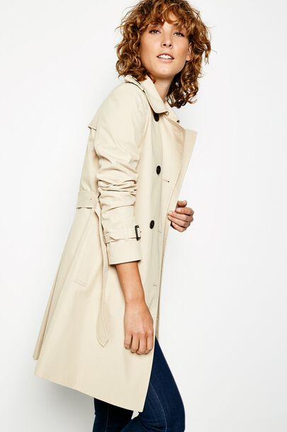 DUNCOMBE TRENCH COATDUNCOMBE TRENCH COAT STONE