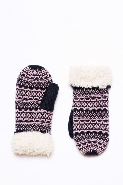 DUNSTABLE FAIRISLE KNIT MITTENS