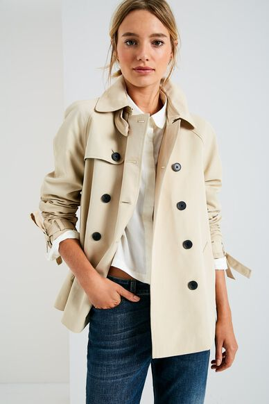 DOLLYHILL SWING TRENCH COAT STONE