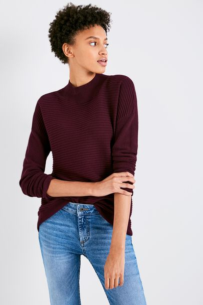 AINLEY HIGH NECK SWING SWEATER