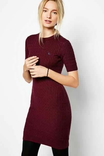 KNOWLDEN CABLE KNITTED DRESS
