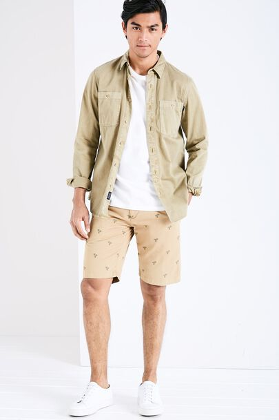 NEWBIGGIN LOW RISE EMBR CHINO SHORTS