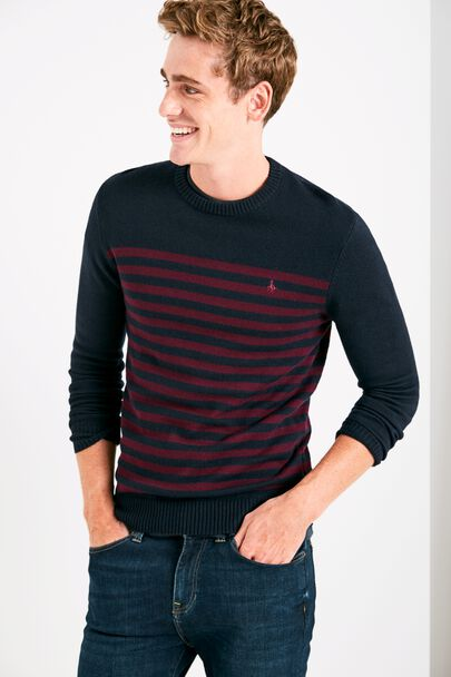 CHACKMORE STRIPE CREW NECK JUMPER