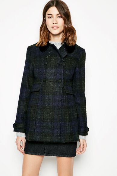 BELLWETHER CHECKED COAT GREEN