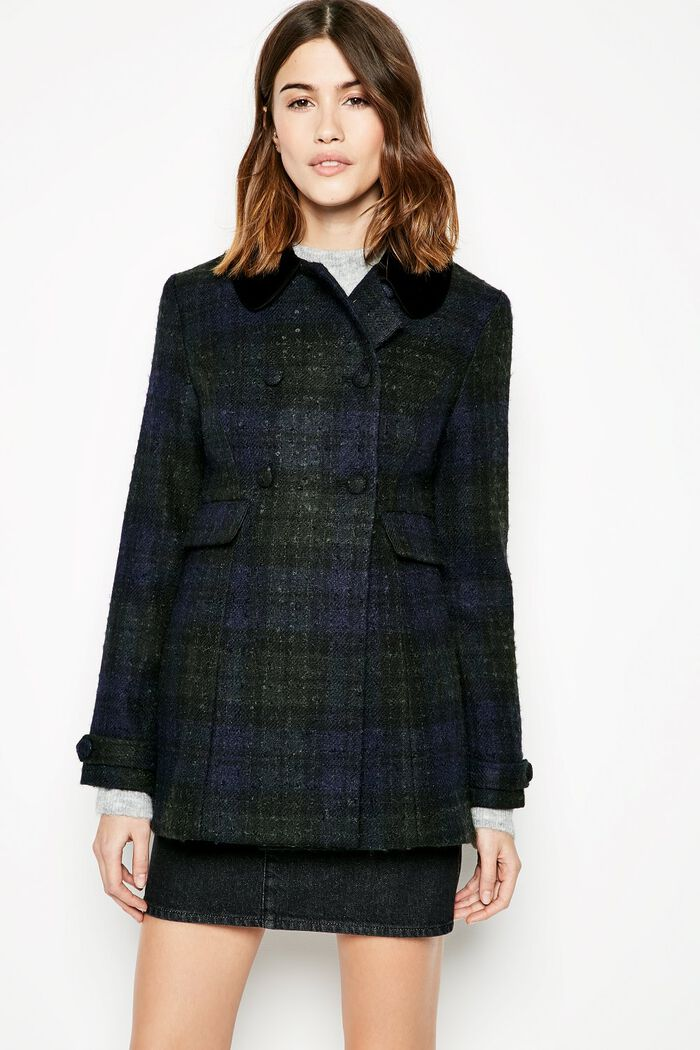 Product photo of Bellwether checked coat green