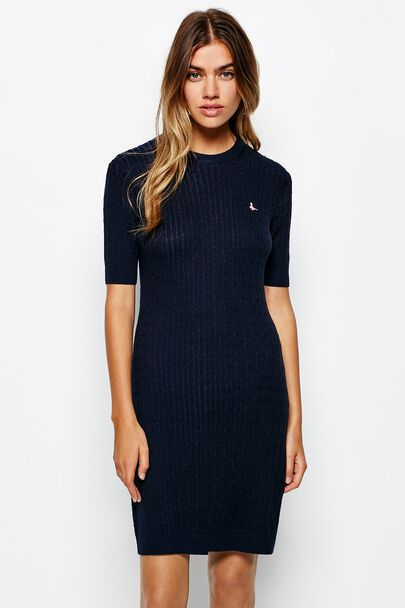 KILMAURY CABLE KNITTED DRESS