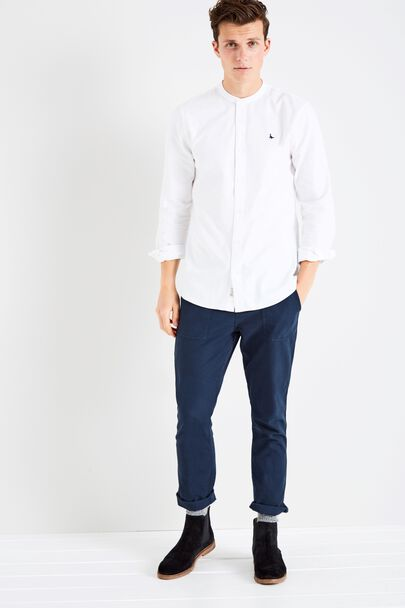 HETON GRANDAD COLLAR PLAIN SHIRT