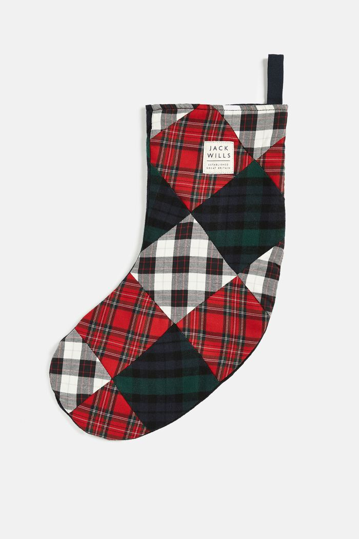 Product photo of Stoneycomb patchwork stocking multi check