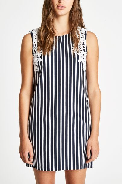 SPEISTBURY STRIPE LACE TRIM DRESS