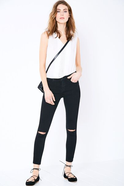 FERNHAM DISTRESSED CROP JEAN