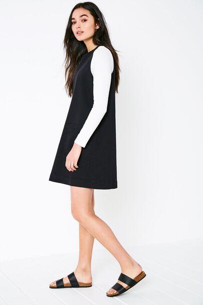 KEIGHLY DENIM SHIFT DRESSKEIGHLY DENIM SHIFT DRESS BLACK