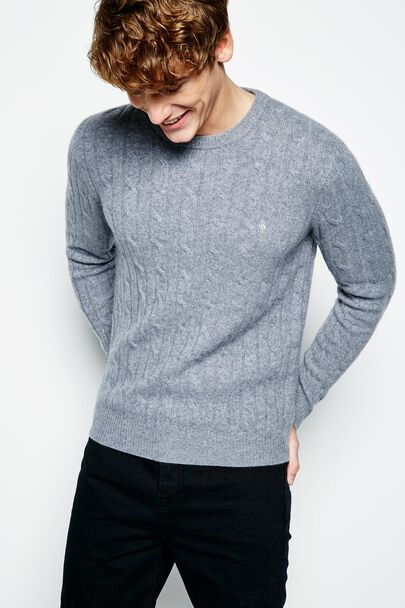 REDMORE CASHMERE CABLE CREW