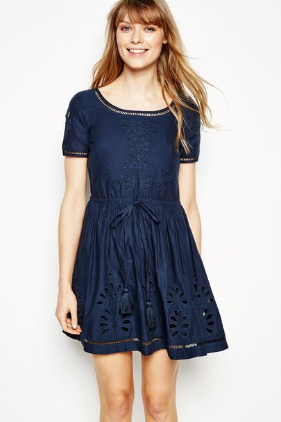 BARNETBY EMBROIDERED SHORT SLEEVE DRESS