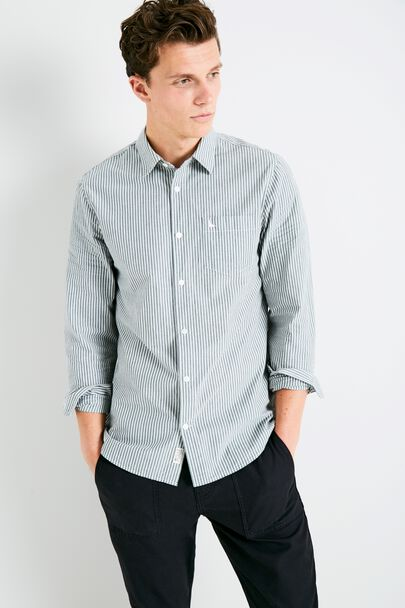 SALCOMBE POPLIN STRIPE SHIRT