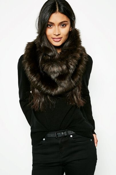 BLISTHORPE FAUX FUR SNOOD