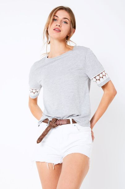 ALVERTON LACE INSERT T-SHIRT
