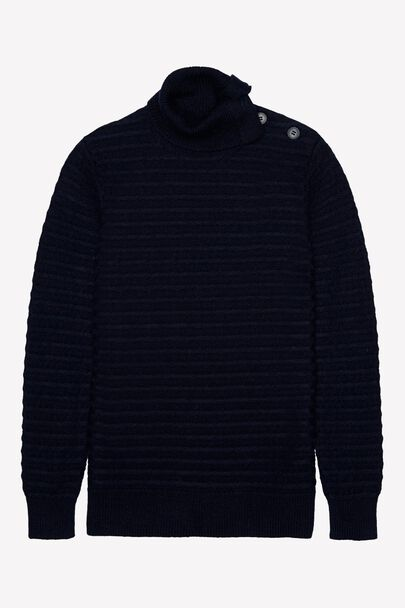 COLTMAN STITCH FUNNEL NECK JUMPERCOLTMAN STITCH FUNNEL NECK JUMPER NAVY