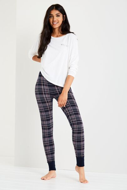 FAULKEBOURNE PLAID LEGGINGS