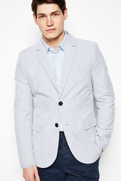 BUCKINGHAM STRIPE SEERSUCKER BLAZER