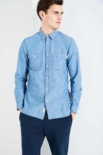 PEGSWOOD CHAMBRAY PLAIN SHIRT