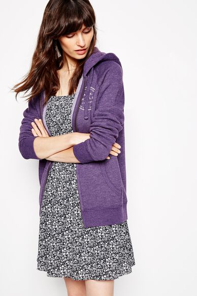 GLENDALE ZIP UP HOODIE PURPLE