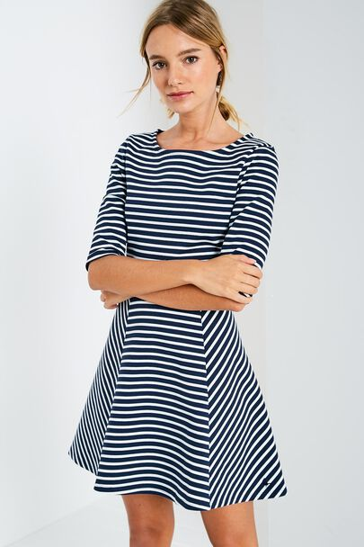 TENDERTON STRIPED SKATER DRESS