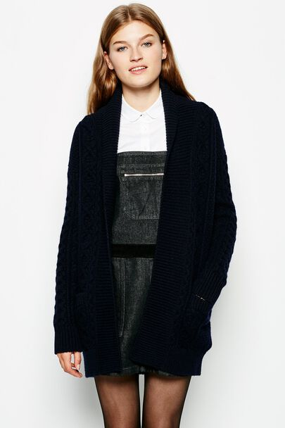 DALRY LONG CABLE CARDIGAN