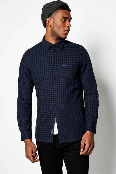 SALCOMBE MW FLANNEL GINGHAM SHIRT